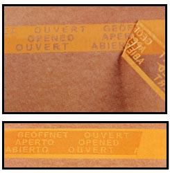段ボールケースに貼る、開封が分かるクラフトテープ(OPPテープ)
