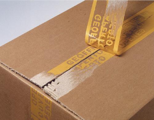 段ボールケース箱の開封防止確認用の梱包テープシール