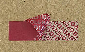 紙・封筒など破れやすい面に貼る改竄防止ラベルシール