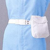 静電気帯電防止クリーンルーム用ウエストポーチ・ポシェットの装着方法です。