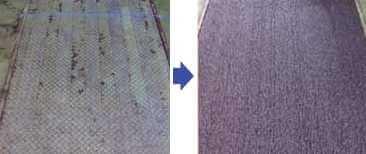 縞鋼板やチェッカープレートの防滑にすべり止め塗料を塗ります。