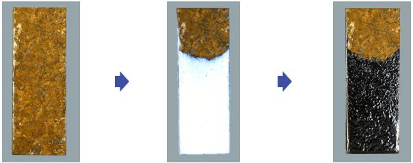 塩害で重度に錆びた鉄に直接ぬる保護剤