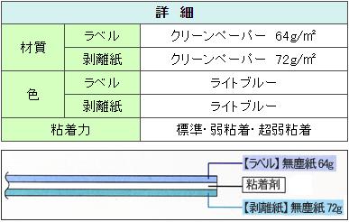 クリーンルーム用OAタックシールは、クリーンペーパー製品のプリンターラベルです。