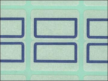 クリーンルーム用低発塵インデックスシールは、低発塵の見出しラベル
