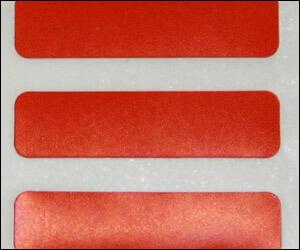 シリコンフリーのマーキングシールラベルは、無塵紙の剥離紙でクリーンルーム用です。