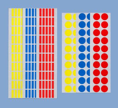 クリーンルーム用マーキングシールラベルで色分け明示