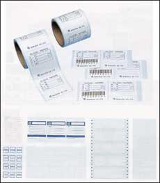 クリーンルーム用のタックシールラベルは、低発塵で紙粉が出ないタックシール