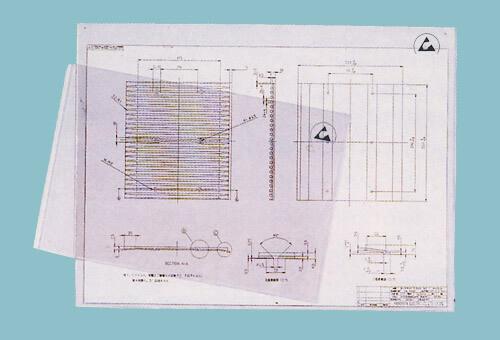 クリーンルーム用クリヤーケースは、硬質の静電気帯電防止で図面を入れるカードケースです。