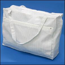 静電気対策用のクリーンルーム用カバンは、パーティクルが発生しない低発塵の布生地製品です。