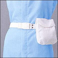 クリーンルーム用ウエアー作業服と同じ素材で作るウエストポーチは、静電気帯電防止で無塵の布生地シートです。