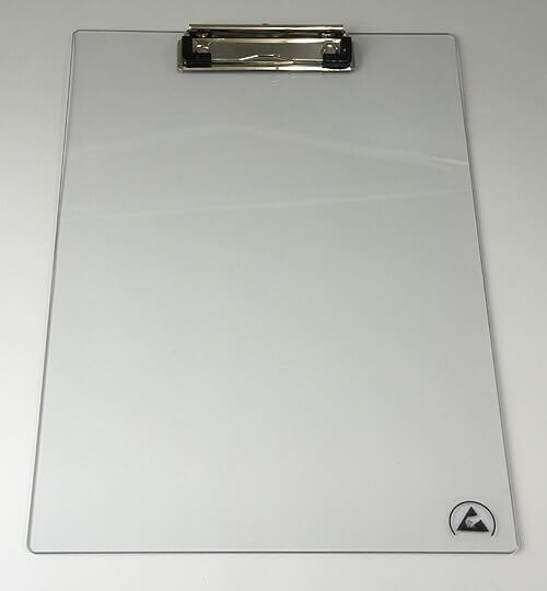 クリーンルーム用の導電性クリップボードは、耐衝撃性の飛散防止で割れません。