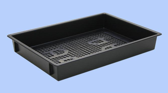 クリーンルーム用の導電性プラスチックトレーは、静電気が発生しない帯電防止対策の樹脂トレーです。