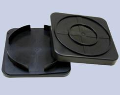クリーンルーム用導電性ウエハー用ケースは、ロック機能付きで固定されて開きません。