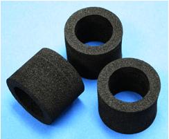 クリーンルーム用導電性スポンジは、低発塵の静電気帯電防止対策ができる保護断熱材です。