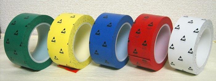 クリーンルーム用導電性ラインテープは、静電気帯電防止対策ができる、プラスチック芯を使った床用テープです。