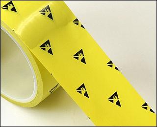 クリーンルームで使う導電性ラインテープは、静電気がたまらない帯電防止の製品です。