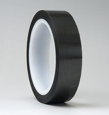 静電気帯電防止の透明なテープは、テプラやラベルシールの上に重ね貼りできるクリーンルーム用テープです。