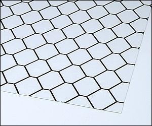 格子柄のクリーンルーム用養生シートは、間仕切りカーテンの導電性塩ビシートです。