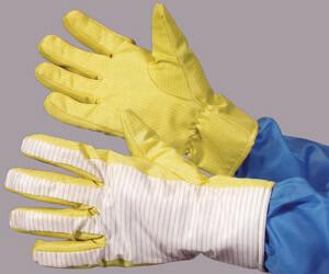 クリーンルーム用耐熱・難燃手袋は、高温でも溶けずに燃えない無塵グローブです。