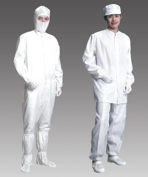 耐熱・難燃性クリーンルーム用作業服は、高温で溶けずに燃えない帯電防止の無塵服です。