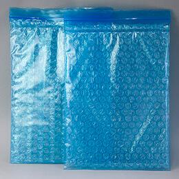 帯電防止のチャック付きプチプチ袋は、静電気が出ないエアーパックのジップロック袋です。