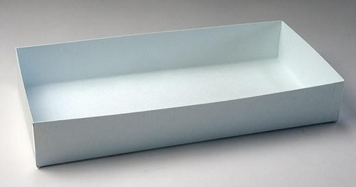 クリーンルーム用の紙製トレーは、クリーンペーパー・無塵紙でできた容器なので低発塵で、紙粉や異物が出ません。